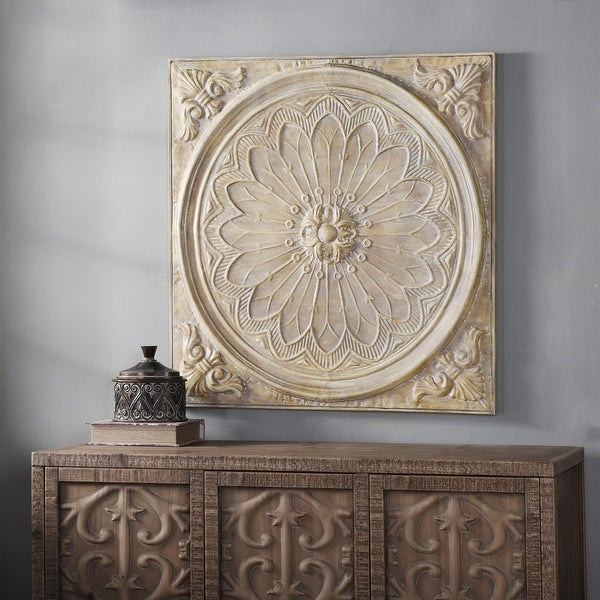 Traditional Dimensional Natural Slate Medallion Wall Decor. Opens flyout.