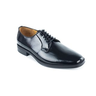 Bruno Magli Men's Black Calf Leather Aral Derby Oxfords Shoes