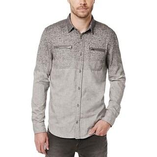 Buffalo David Bitton Mens Button-Down Shirt Colorblock Splatter-Print