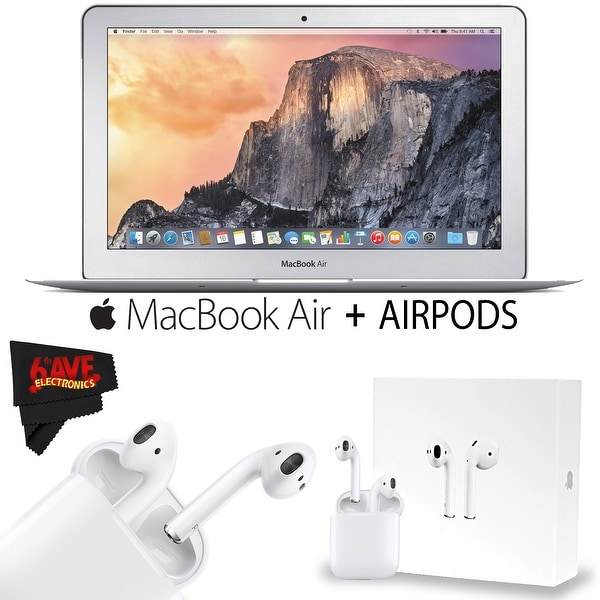 Apple 11.6-Inch MacBook Air (Early 2015) with Apple AirPods