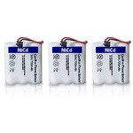 Replacement Uniden BT905 Battery for DXAI5588-3 / EXA915 / EXI8965 Phone Models (3 Pack)