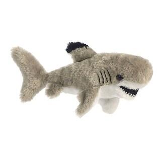 Black Tipped Shark Mini Flopsie Stuffed Animal by Aurora - grey