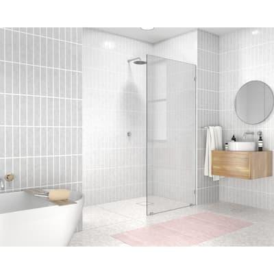 "Glass Warehouse 78"" x 29"" Frameless Shower Door - Single Fixed Panel"