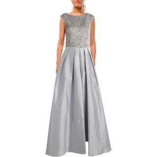 Aidan Mattox Womens Taffeta Embellished Evening Dress
