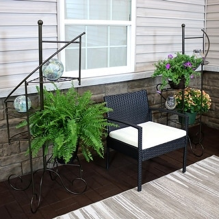 """Link to Sunnydaze 4-Tier Flower Plant Stand Metal Spiral Staircase Design - 2 PK - 56"""" Similar Items in Living Room Furniture"""
