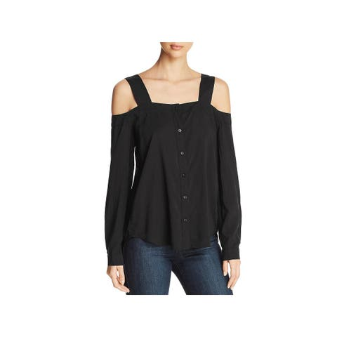 Side Stitch Womens Blouse Day To Night Cold Shoulder