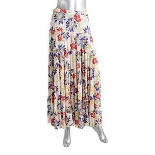 Denim & Supply Ralph Lauren Womens Tiered Floral Print Maxi Skirt