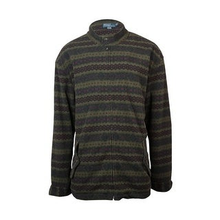 Polo Ralph Lauren Men's Big & Tall Printed Fleece Jacket - 3lt