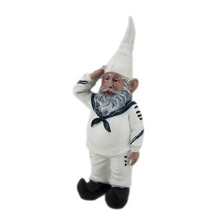 8 inch Shipmate Sal Saluting Sailor U.S. Navy Military Gnome Garden Shelf Statue - 8 X 3.75 X 2.75 inches