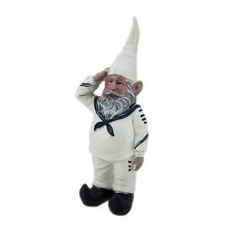 G.I. Gerald Saluting Sailor U.S. Navy Military Gnome Statue