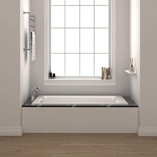 Link to Fine Fixtures Drop In Soaking Bathtub Fiberglass Acrylic Material Similar Items in Bathtubs