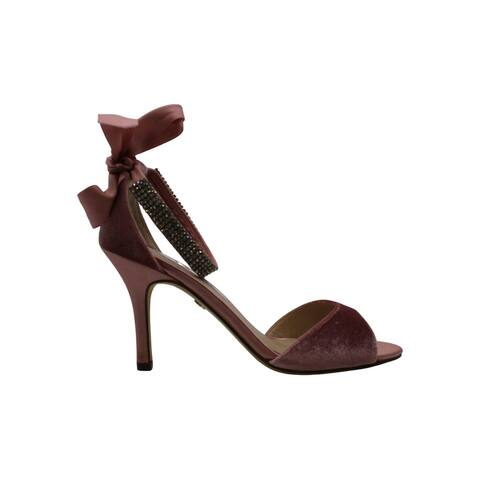 Nina Womens Vinnie Satin Peep Toe Casual Ankle Strap Sandals - 7