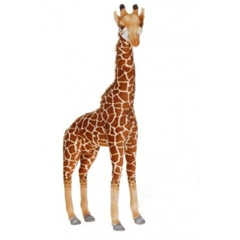 "33.25"" Lifelike Handcrafted Extra Soft Plush Giraffe Stuffed Animal"