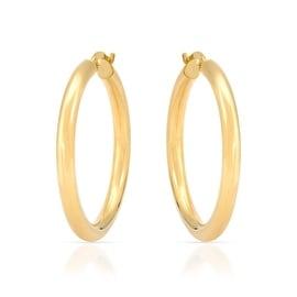 "MCS JEWELRY INC 14 KARAT YELLOW GOLD CLASSIC ROUND HOOP EARRINGS (1.2"" DIAMETER)"