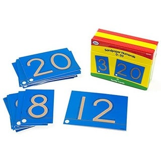 Didax-211211 0-20 Cards Educational Resources Sandpaper numerals