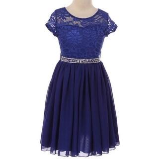 Flower Girl Dress Floral Lace Top Chiffon Skirt Mint JKS 2053