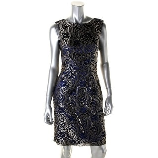 JS Collections Womens Lace Embellished Cocktail Dress - 14