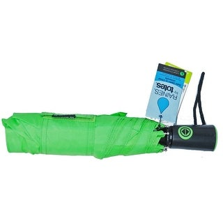 Raines by Totes Auto Compact Umbrella with Auto Open and Close Green