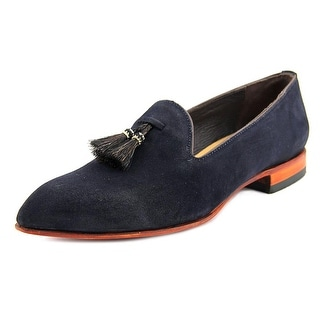 Lucchese Stephanie Women Pointed Toe Suede Blue Loafer