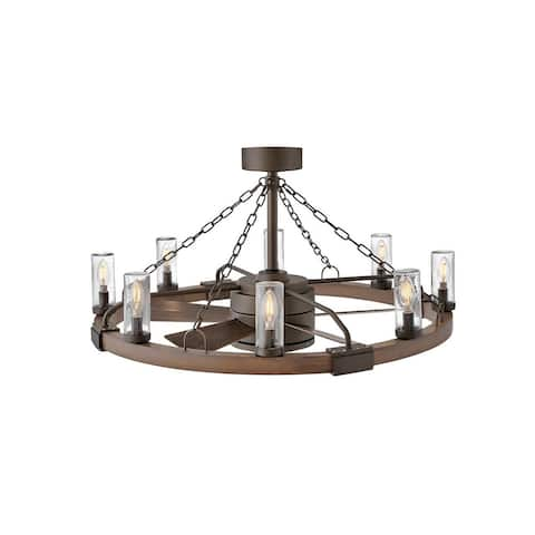 "Hinkley Sawyer 36"" with LED Outdoor Ceiling Fan 28"" - Metallic Matte Bronze"