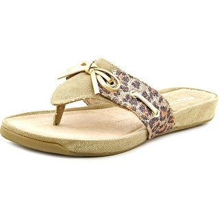 Rialto Candid Open Toe Canvas Thong Sandal