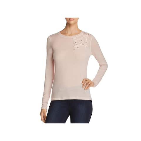 Elie Tahari Womens Nani Pullover Sweater Wool Embellished - M