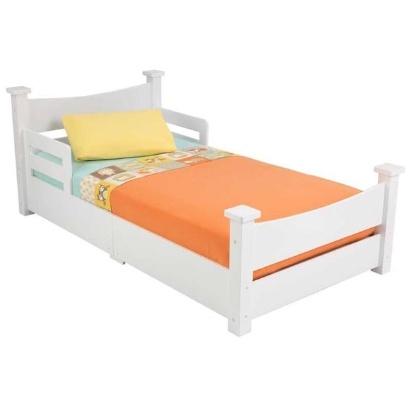 Shop KidKraft: Addison Toddler Bed - White - Free Shipping ...