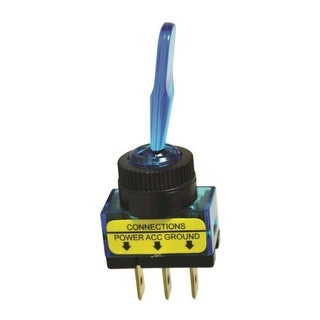Calterm 40240 Glow Toggle Switch, 20 Amp, Blue