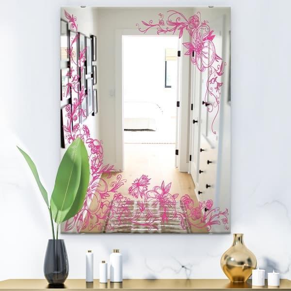 Designart Garland Vivid 11 Cabin And Lodge Bathroom Mirror Decorative Wall Mirror Overstock 28001101