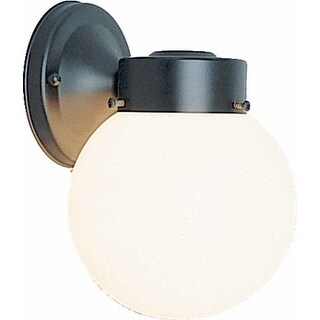 "Volume Lighting V1527 Single Light 8.5"" Height Outdoor Wall Sconce with White Gl"