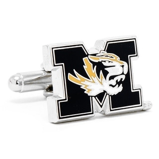 Silver Plated University of Missouri Tigers Cufflinks