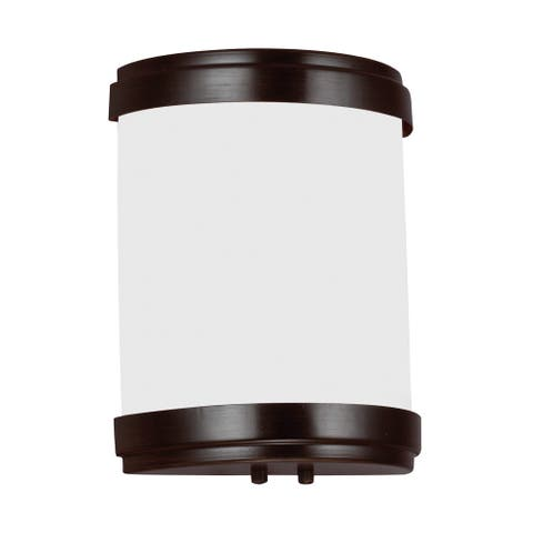 Sea Gull Lighting 4933491S-710 Ada Led Wall Sconce Burnt Sienna Finish - burnt sienna finish
