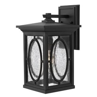 """Hinkley Lighting H1494-LED 14.5"""" Height LED Outdoor Lantern Wall Sconce from the Randolph Collection - Black"""