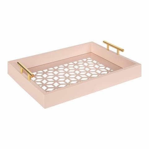 Kate and Laurel Caspen Rectangle Decorative Tray - 12.25x16.5