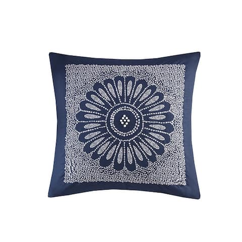 The Curated Nomad Natoma Embroidered Cotton Decorative Pillow