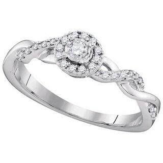 1/5Ctw Diamond Bridal Ring - White