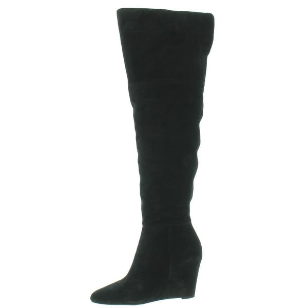 4253d6e862f Shop Via Spiga Womens Kennedy Over-The-Knee Boots Suede Covered Wedge -  Free Shipping Today - Overstock - 15455443