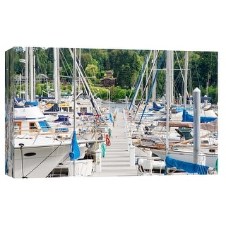 "PTM Images 9-102201  PTM Canvas Collection 8"" x 10"" - ""Great Adventure"" Giclee Sailboats Art Print on Canvas"