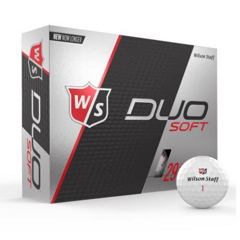 Wilson Duo Soft Golf Balls 12 Pack 2-piece 29 Compression Golfing WGWP4 - One Size