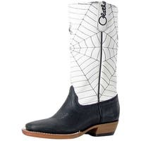 Olathe Western Boots Boys Leather Cowboy Kids Spider Web Black