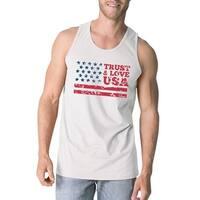 883f72c5d102a Shop Trust Love USA Mens Grey Tank Top Round Neck Line Cotton Tanks ...