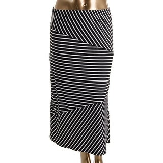 NY Collection Womens Petites Maxi Skirt STRETCH Striped - pxl
