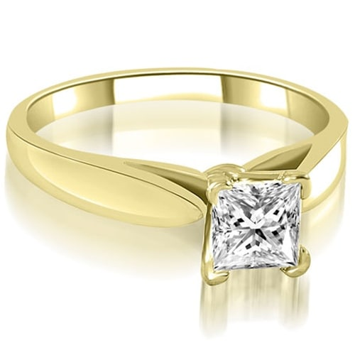 0.50 cttw. 14K Yellow Gold Cathedral V-Prong Solitaire Diamond Engagement Ring
