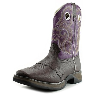 "Durango 8"" Western Boot Youth Square Toe Synthetic Western Boot"