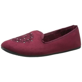 Daniel Green Womens Madge Faux Suede Studded Smoking Loafers - 10 medium (b,m)