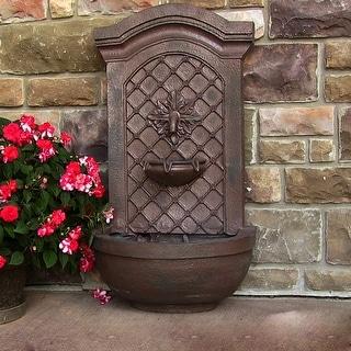 Sunnydaze Rosette Leaf Electric Outdoor Wall Water Fountain - Iron Finish - Bronze|Bronze