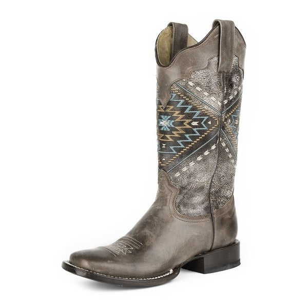 Roper Western Boots Womens Southwest Brown