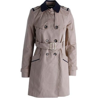 Juicy Couture Black Label Womens Twill Trench Coat - XS