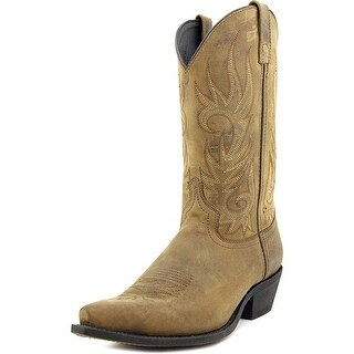 Laredo Crazy Horse Pointed Toe Leather Western Boot