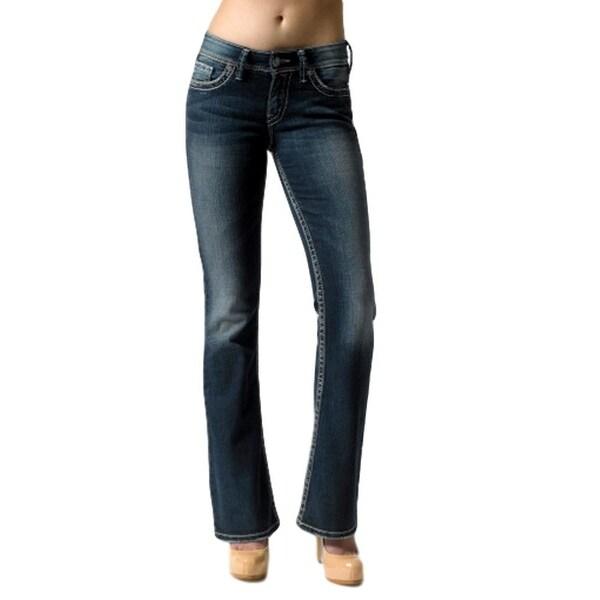 b2a3b2bb Shop Silver Jeans Denim Womens Suki Bootcut Button Zip Dark - Ships ...